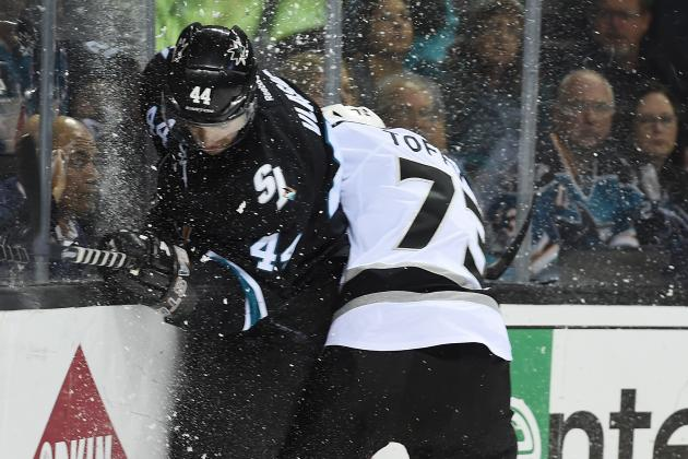 Video: Marc-Edouard Vlasic Leaves Game 5 After Hit from Jarret Stoll