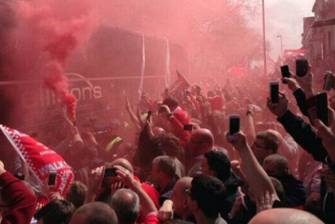 Liverpool Fans Amass in Support of Team Before Chelsea Premier League Showdown