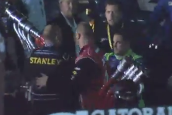 Casey Mears and Marcos Ambrose Fight Following NASCAR at Richmond Race