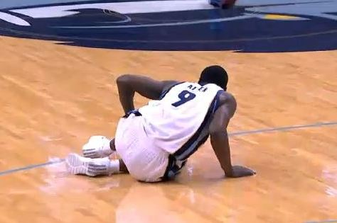 Grizzlies' Tony Allen's Fake Injury Leads to Easy Dunk
