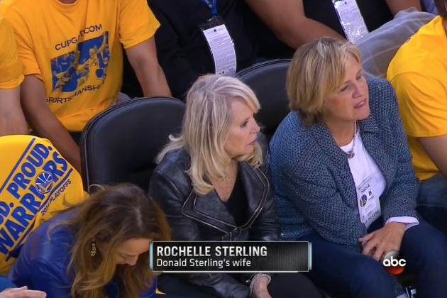 Donald Sterling's Wife Sits Courtside at Clippers-Warriors, Dresses in All Black