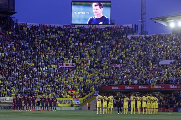 Players, Fans Pay Tribute to Late Barcelona Manager Tito Vilanova