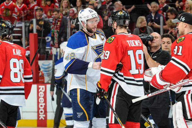 David Backes and Brent Seabrook Share Classy Postgame Handshake