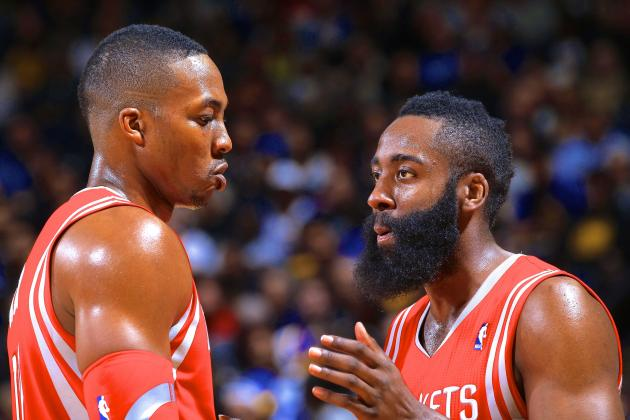 Where Rockets Co-Stars James Harden and Dwight Howard Are Falling Short