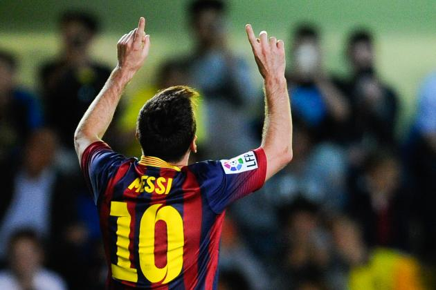 Lionel Messi Reaches 40 Barcelona Goals for 5th Consecutive Season