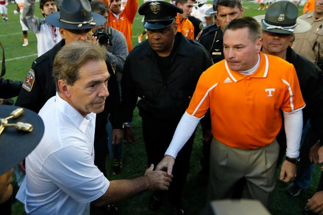 Butch Jones Believes Alabama vs. Tennessee Is Best Rivalry in SEC