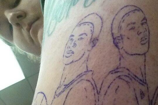 Photo: Kentucky Fans Gets Harrison Twins Tattoos
