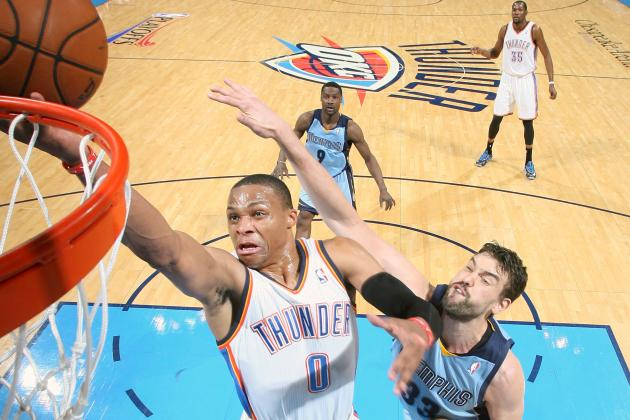 Russell Westbrook Sends OKC-MEM to Overtime with Game-Saving Steal, Layup