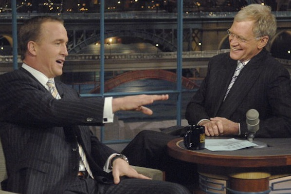 Peyton Manning Making May 5 Visit to 'Late Show with David Letterman'