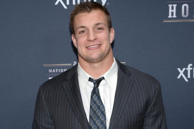 Rob Gronkowski Lives It Up at Kansas State Spring Game