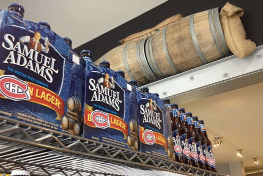 Canadian Store Blocks 'Boston' off Samuel Adams Cases with Canadiens Logo