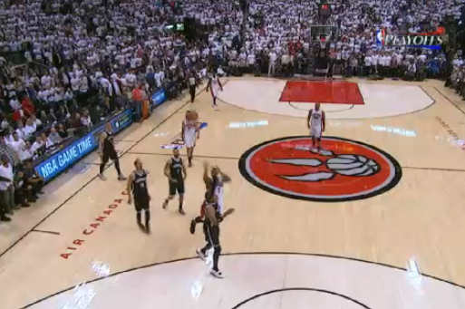 Kyle Lowry Banks in Buzzer-Beating 3 to End 1st Half of Game 5