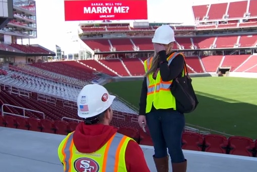 The 49ers New Stadium Has Already Hosted Its First Marriage Proposal