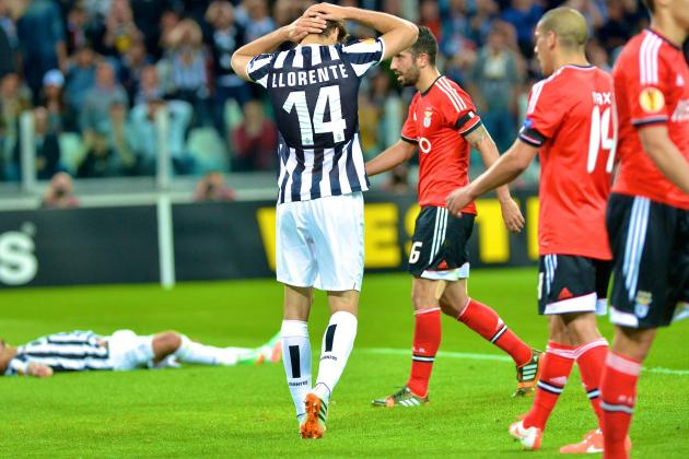 Juventus vs. Benfica: Europa League Score, Grades and Post-Match Reaction