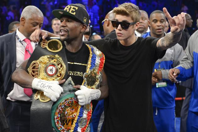 Will Some New Celeb Help Floyd Mayweather Jr.  Top His Justin Bieber Entrance?