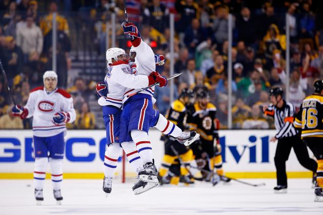 Montreal Canadiens vs. Boston Bruins Game 1: Live Score and Highlights
