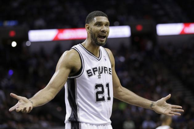 Spurs' Tim Duncan Nearing NBA Record for Most Career Playoff Double-Doubles