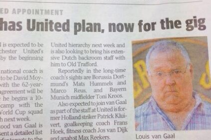 Louis van Gaal Confused for TV's Harold Bishop in Australian Newspaper