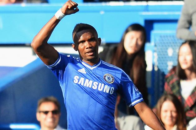 It's Been Amazing at Chelsea, Says Samuel Eto'o
