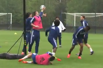Chelsea Stars Attempt to Play Basketball in Training