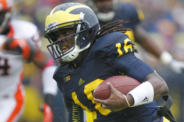 Michigan Football: Denard Robinson Goes to Bat for Brady Hoke, Devin Gardner