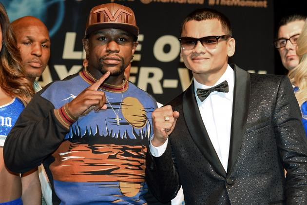 Mayweather vs. Maidana Weigh-In: Results and Takeaways from Pre-Fight Event