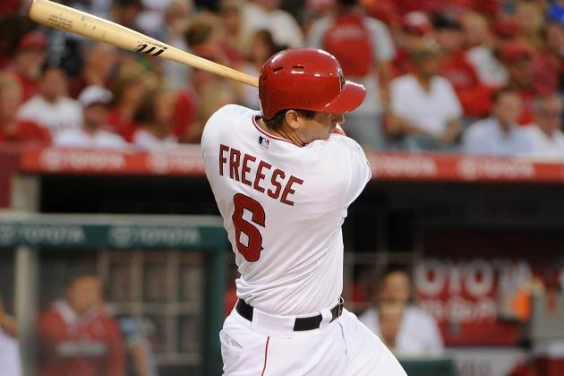 Freese Exits vs. Rangers with Finger Contusion