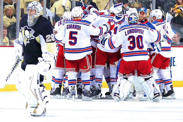 Deep Rangers Stifle Penguins' Stars to Claim Early Edge with Road Win in OT
