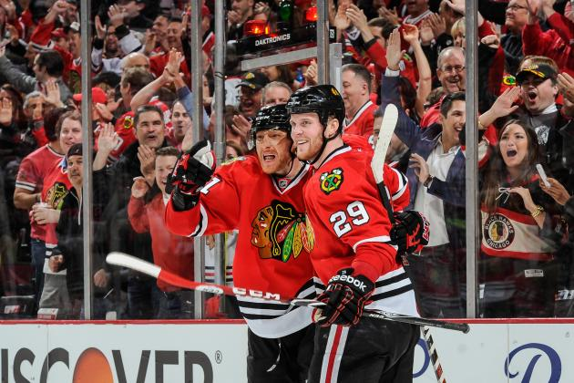 Video: Hossa Scores on Pretty Passing Play