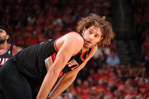 Watch Robin Lopez Posterize Omer Asik in 2nd Half of Blazers-Rockets Game 6