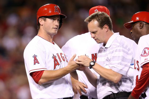 Angels' Freese Hit by Pitch, Has Bruised Finger