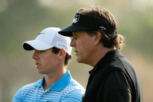Phil Mickelson and Rory McIlroy Falter in 2nd Round at Wells Fargo
