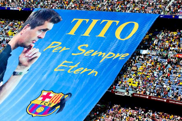 Barcelona Honour Tito Vilanova Before Match Against Getafe