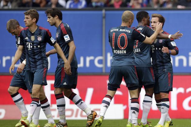 Bayern Munich's Mario Gotze Scores a Hat Trick Against Hamburg