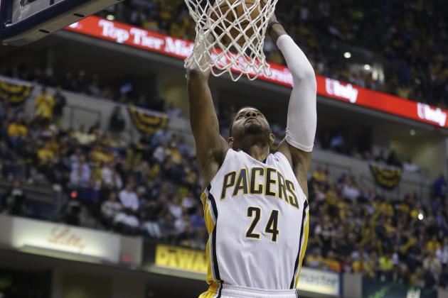 Video: PG Slams Reverse Double-Clutch Dunk
