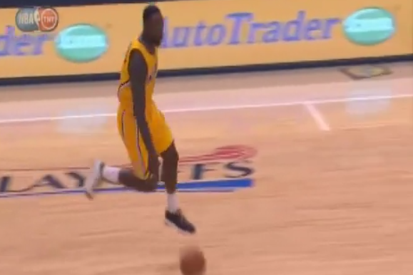 Lance Stephenson Prances Down the Court and Makes Sick Bounce Pass