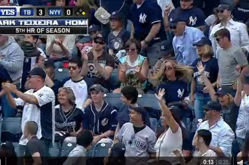 Yankees Fan Goes Ballistic After Missing out on Home-Run Ball