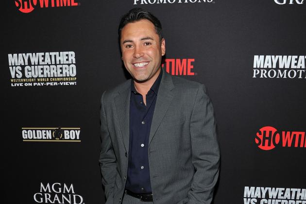 Oscar De La Hoya Talks Golden Boy Promotions, Bob Arum Before Mayweather-Maidana