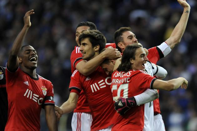 Benfica Players Dye Their Heads to Celebrate Their Title Triumph