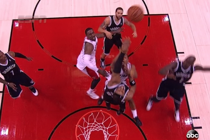 Nets' Paul Pierce Wins Game 7 with Clutch Block Against Raptors' Kyle Lowry