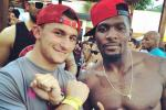 Manziel Kicks It with Dez at Pool Party