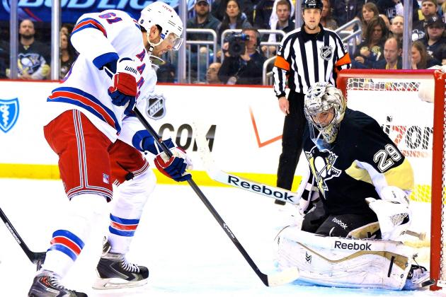 Marc-Andre Fleury Steps Up Exactly When Penguins Need Him in Game 2 vs. Rangers