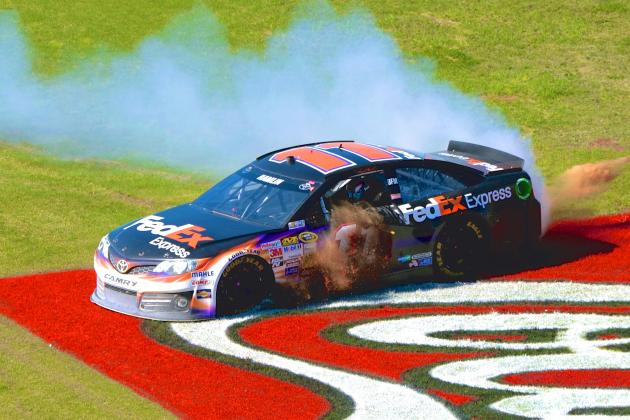 Denny Hamlin's Newfound Versatility on Display in NASCAR Win at Talladega