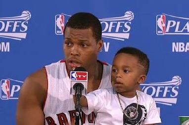 Raptors' Kyle Lowry's Son Steals the Show During Postgame Press Conference