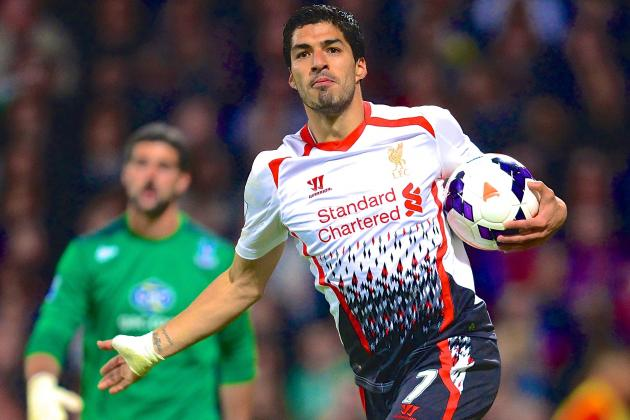 Luis Suarez Ties Premier League Single-Season Scoring Record