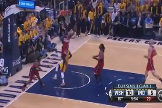 First Quarter of Pacers-Wizards Game 1 Turns into John Wall Mixtape