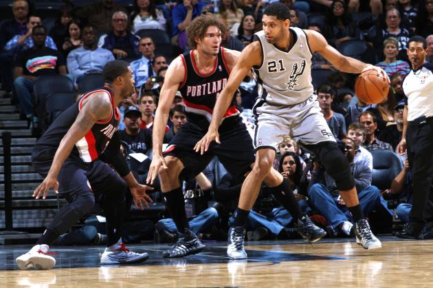 Tim Duncan and Manu Ginobili Acknowledge Spurs Face Tough Opponent in Blazers