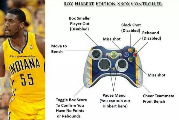 Harsh 'Roy Hibbert Edition Xbox Controller' Mocks His Playoff Blunders