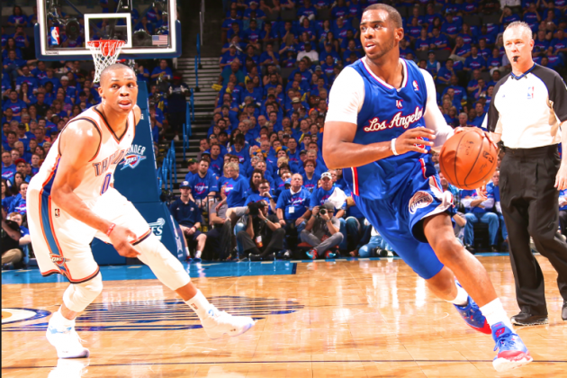 Chris Paul Exposing Russell Westbrook's Shortcomings Early in OKC-LAC Series