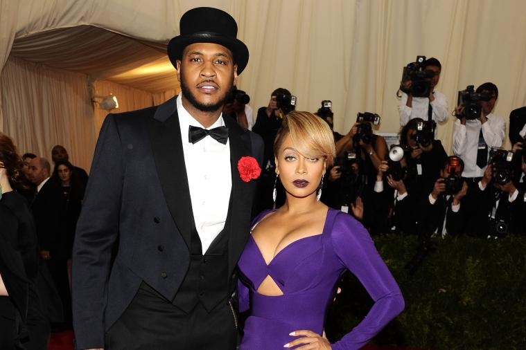 Carmelo Anthony Attends  Met Gala, Dresses Like Monopoly Man, Eyes Up Rihanna